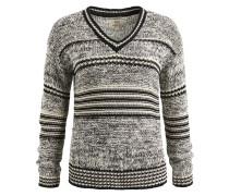 Pullover 'walenzia' grau / schwarz / weiß