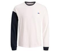 Shirt ultramarinblau / naturweiß