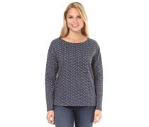 Sweatshirt 'Noa Dotted Bow' taubenblau