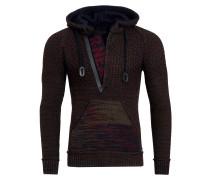 Cooler Grobstrick-Pullover mit Kapuze