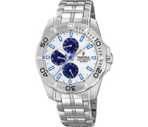Uhr 'f20445/1' blau / silber