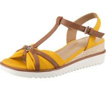 Sandalette kupfer / goldgelb