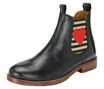Chelsea Boot 'julia mit Herz' schwarz