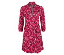 Kleid taupe / pink / weiß