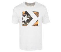 Star Chevron Camo Print Box T-Shirt weiß