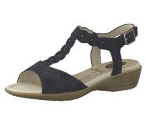 'T-Steg' Sandalen schwarzmeliert