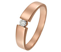 Ring 'Diamonds' rosegold / weiß