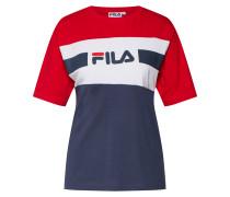 T-Shirt 'shannon' navy / rot / weiß