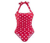 Badeanzug rot / weiß