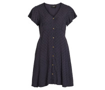 Kleid 'objaya S/S Shirt Dress' nachtblau