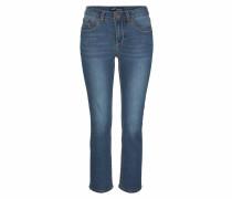 7/8-Jeans 'mit Kontrastnähten' blau