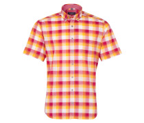 Hemd 'modern Fit' gelb / rosa / rot / weiß