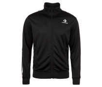 Trainingsjacke 'Chevron' schwarz