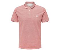 Basic Poloshirt pastellrot