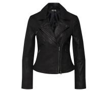 Jacke 'wfVIGGA Leather Jacket' schwarz