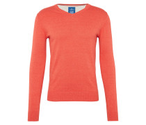 Pullover 'basic v-neck sweater' koralle
