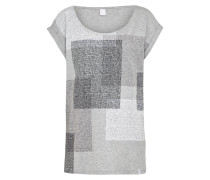 T-Shirt 'Geometric' grau
