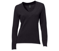 V-Pullover schwarz