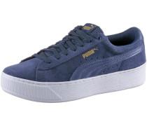 'Vikky Platform' Sneaker indigo / weiß