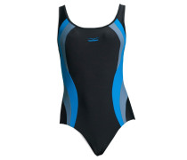 Badeanzug blau / schwarz