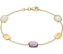 Armband '87291243' gold / helllila / weiß