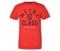 T-Shirt '12M Class' feuerrot / schwarz