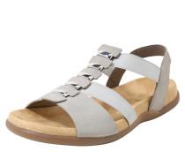 Sandale mit Metalldetails hellgrau / silber