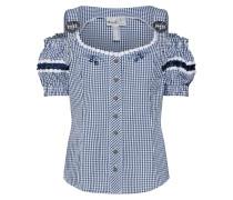 Bluse 'Britt-Maren' dunkelblau / weiß