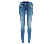 'Pitch' Jeans im Used Look mit Kontrastnähten
