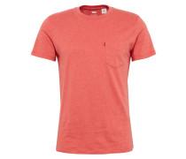 Shirt mit Streifen-Design apricot
