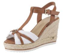 Sandale karamell / weiß