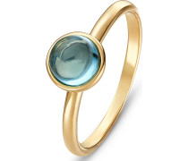 Ring '60142581' hellblau / gold