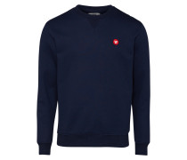Sweatshirt navy / feuerrot