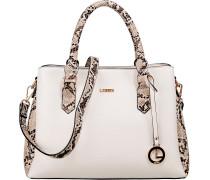 Eleora Handtasche beige / weiß / braun