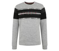 Sport-Sweatshirt grau / schwarz