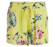 Gemusterte Shorts gelb