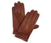 Handschuhe 'Delicate Buckle' braun