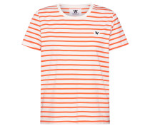 T-Shirt 'uma' orange / weiß