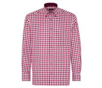 Hemd rot / rotviolett / weiß