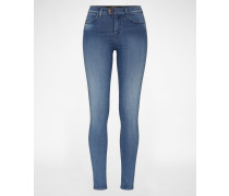 'Touch' Skinny High Waist Denim blue denim