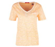 Shirt apricot / weiß