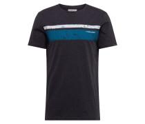 Shirt 'hake' weiß / blau / schwarzmeliert
