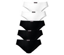 Slip (5 Stck.) schwarz / weiß