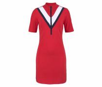 Jerseykleid marine / rot / weiß