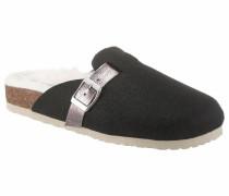 Pantoffel braun / schwarz / weiß
