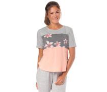 Hello Winter Colorblock T-Shirt grau / rosa