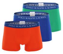 Trunk blau / grün / orangerot