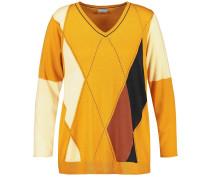 Pullover gelb / goldgelb / schwarz / weiß