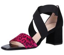 Sandalen neonpink / schwarz