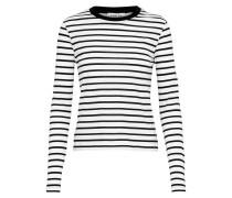 Langarmshirt 'Pixie' schwarz / weiß